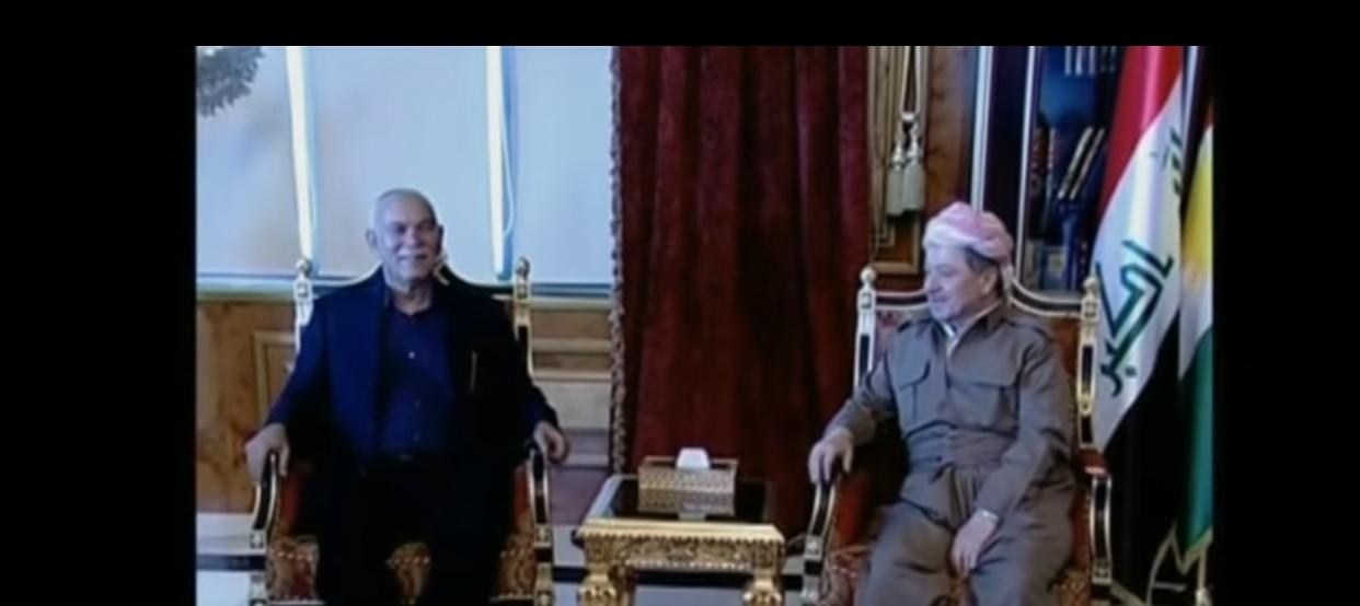 لقاء سابق بين مسعود بارزاني ونوشيروان مصطفى
