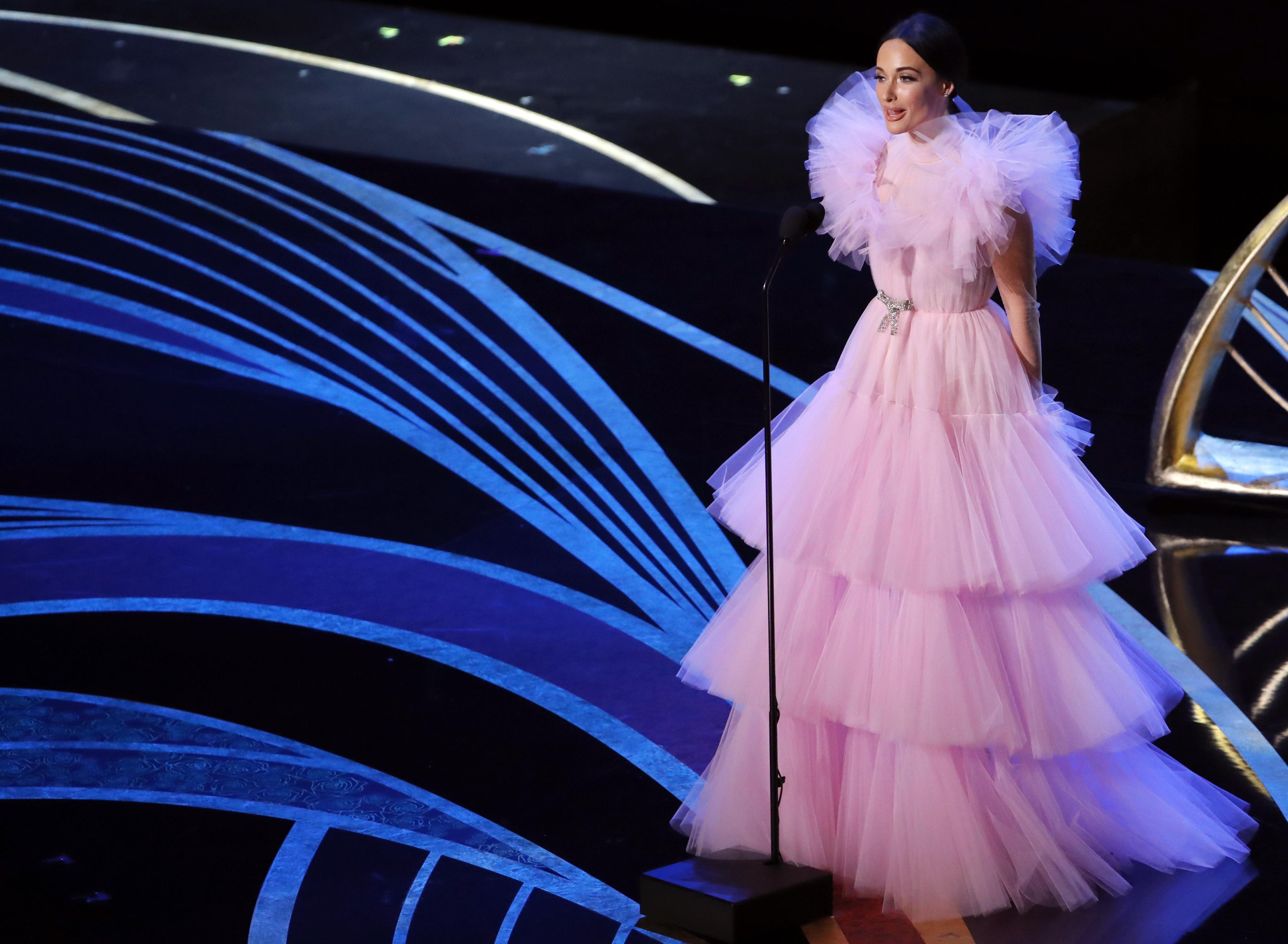 المغنية الأميركية كاسي موسغرافز على مسرح الأوسكار