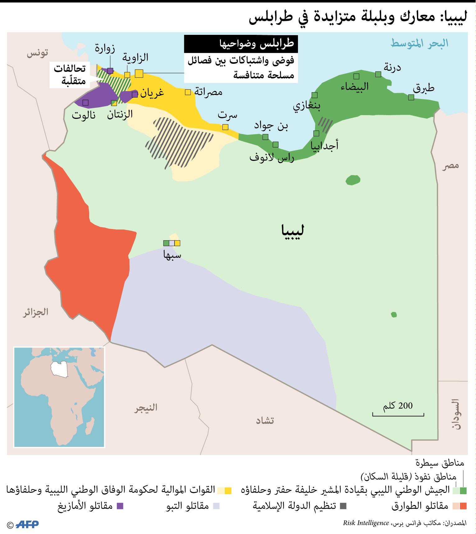 ليبيا وخريطة المعارك