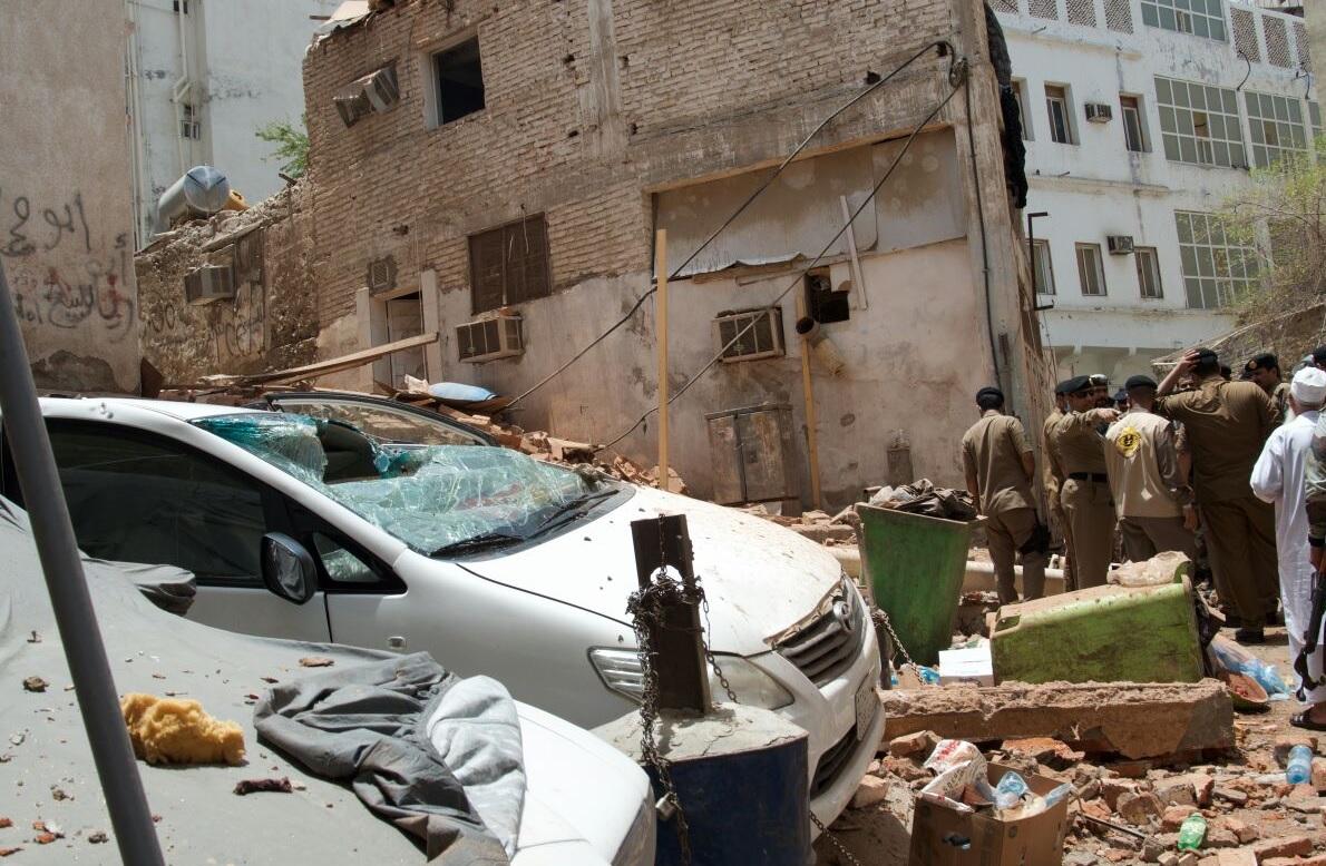 الموقع الذي فجر فيه الانتحاري نفسه، من حساب الداخلية السعودية على تويتر