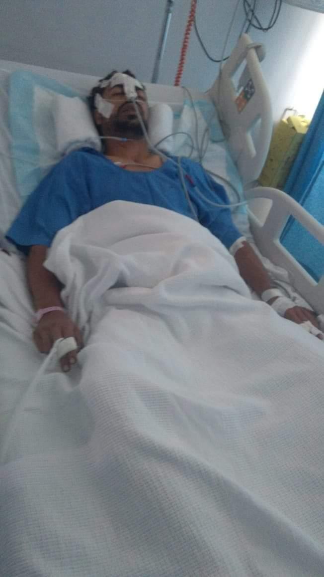 أحد المصابين من العائلة القبطية