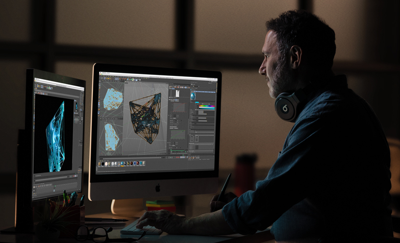 يمكنك أن تدعم جهاز iMac بمعالج عالي الأداء لتحرير الصور والمقاطع المصورة