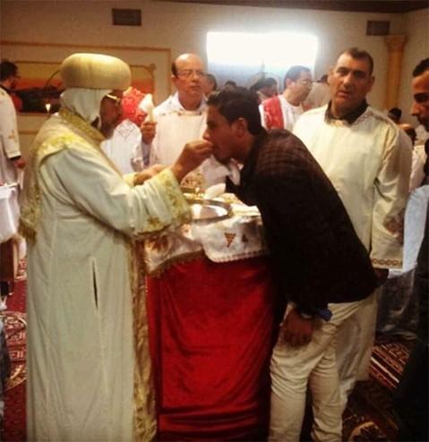 زيارة الأنبا مرقس إلى السعودية وإقامة القداس