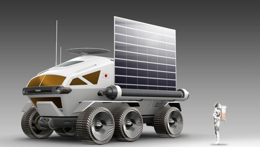 تتزود مركبة تويوتا للفضاء بالطاقة عن طريق الخلايا الضوئية
