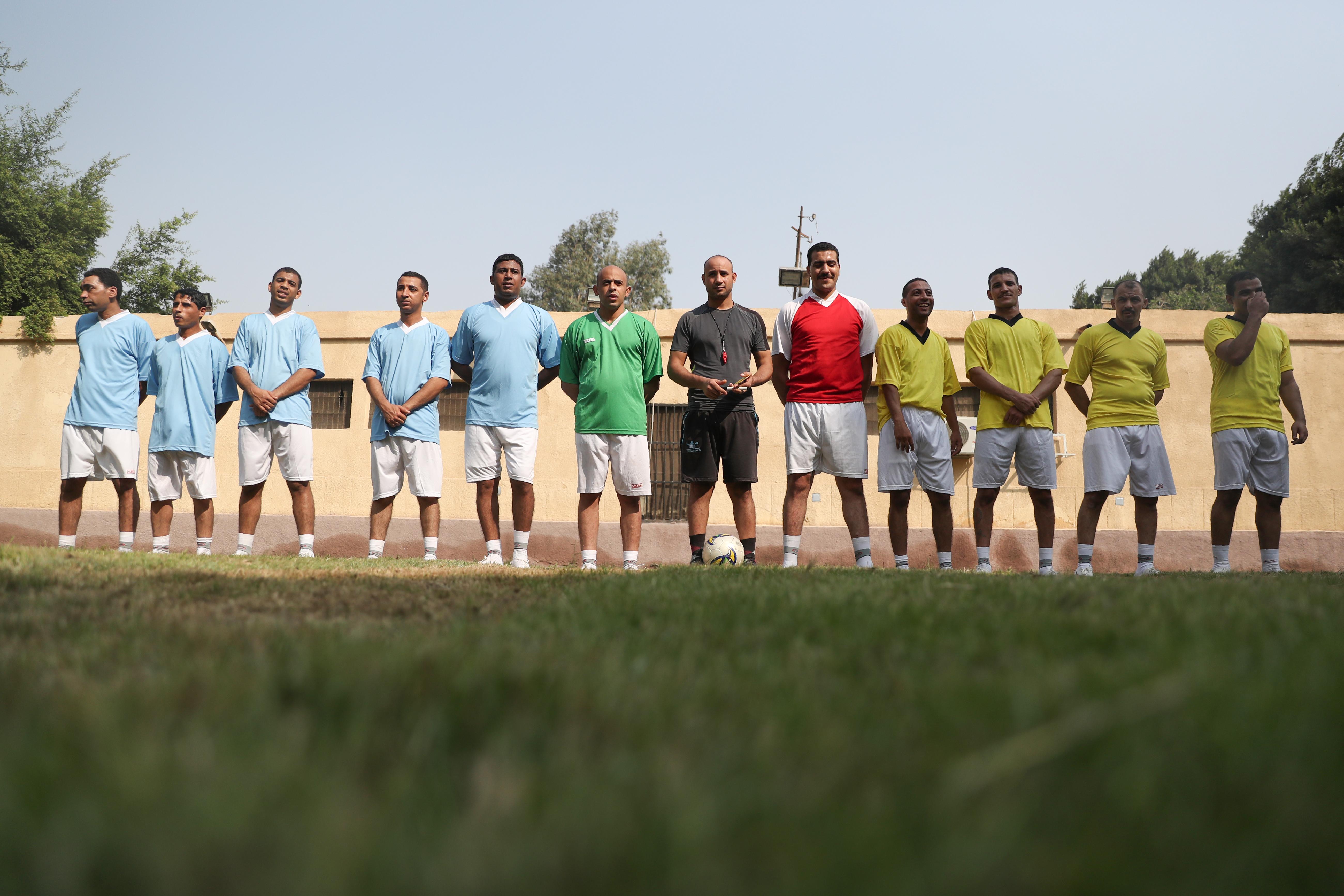 مباراة بين المساجين أقيمت في سجن طرة أثناء زيارة الوفد الإعلامي - 11 نوفمبر 2019