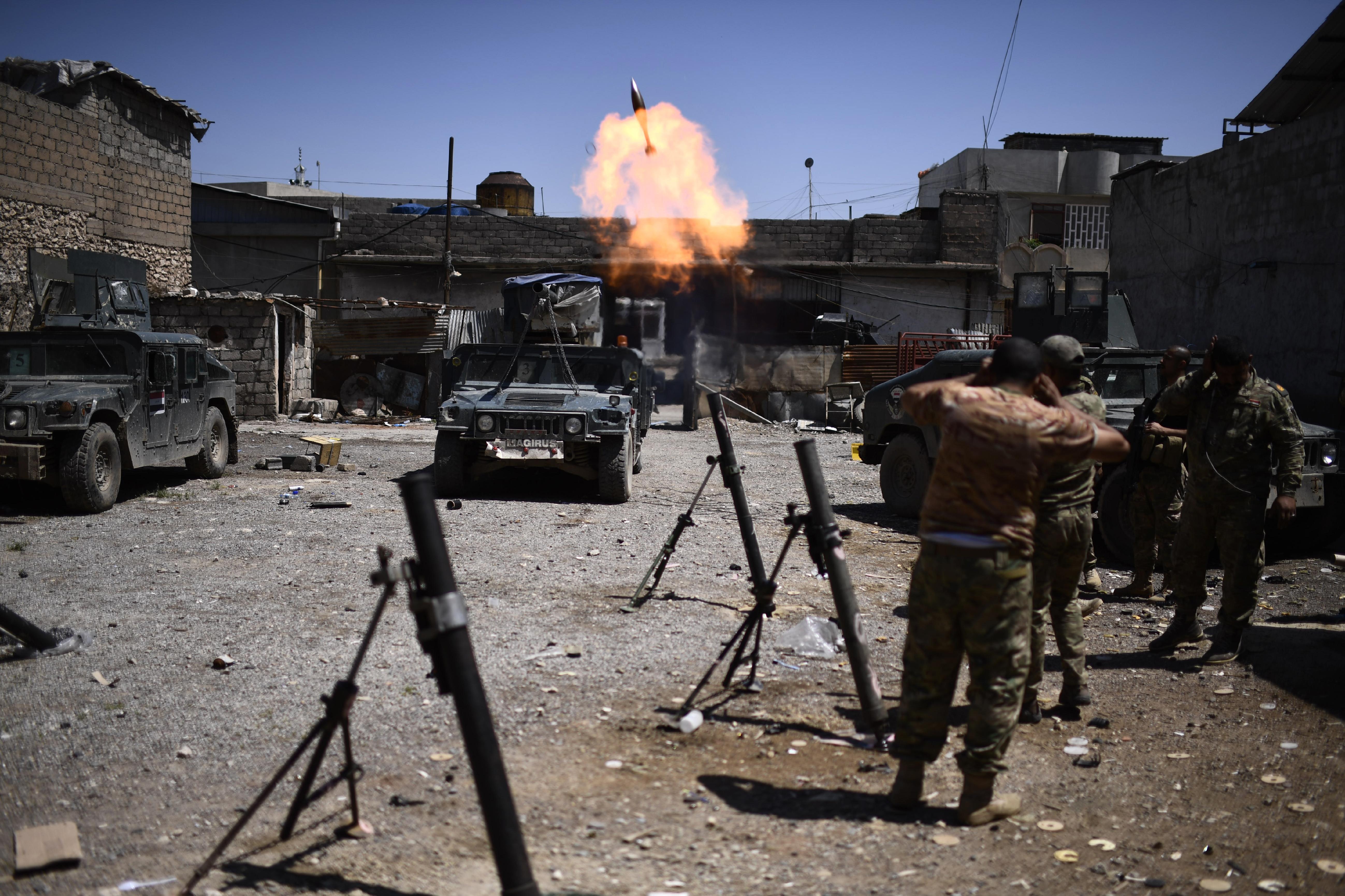 قوات عراقية في المدينة القديمة في الموصل