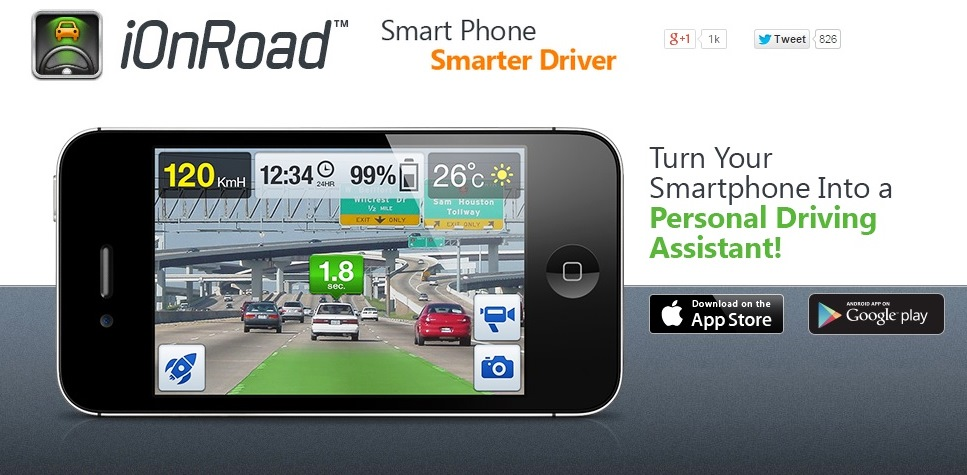 تطبيق iOnRoad Augmented Driving