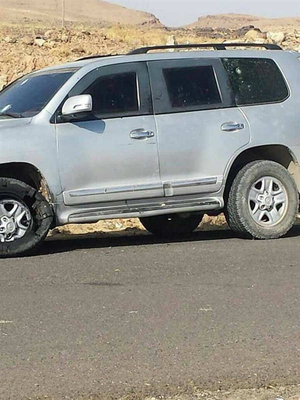 سيارة علي عبد الله صالح الخاصة التي تعرضت لهجوم أدى إلى مقتله تداولها ناشطو وسائل التواصل الاجتماعي