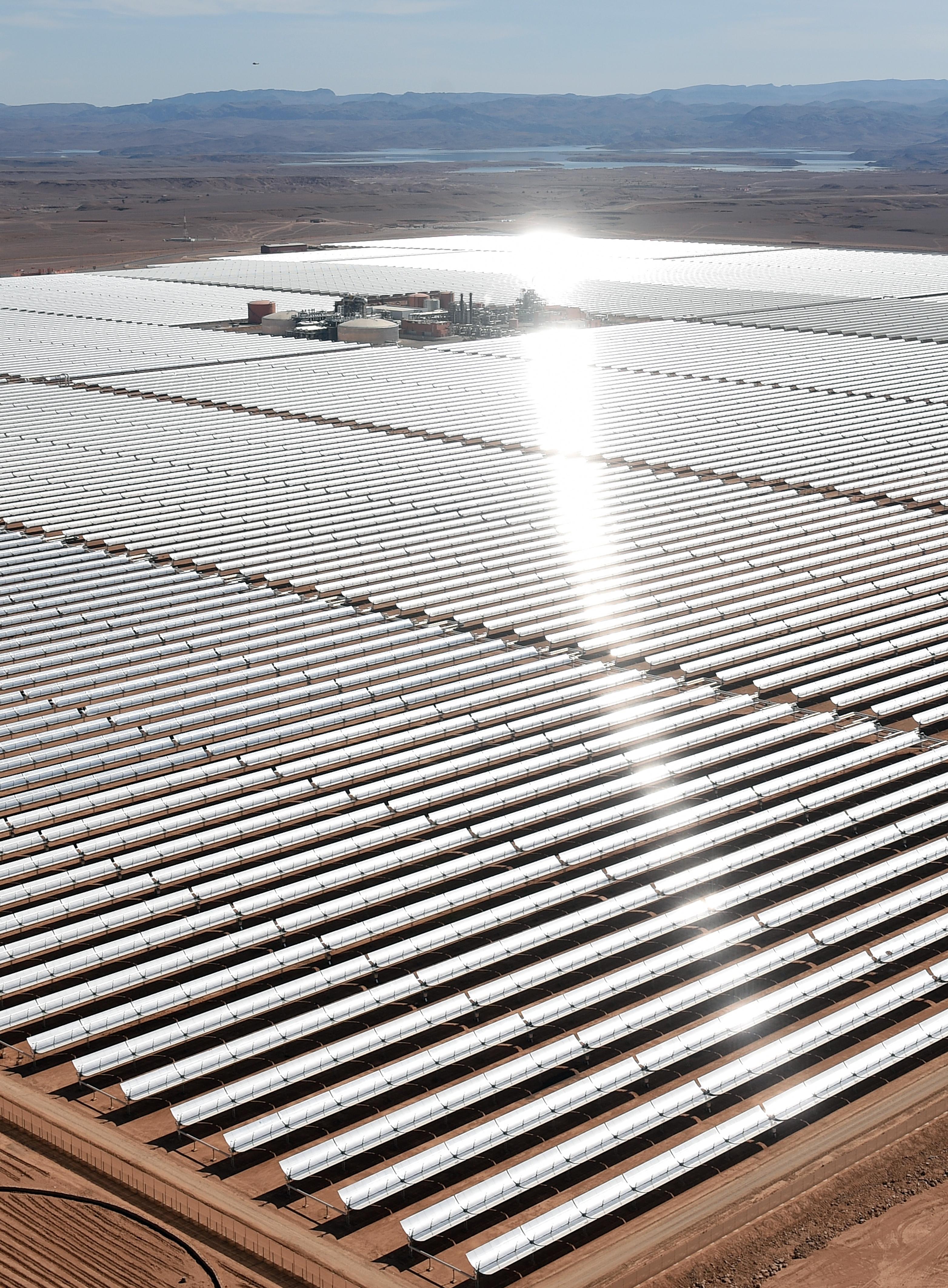 ألواح الطاقة الشمسية في المغرب