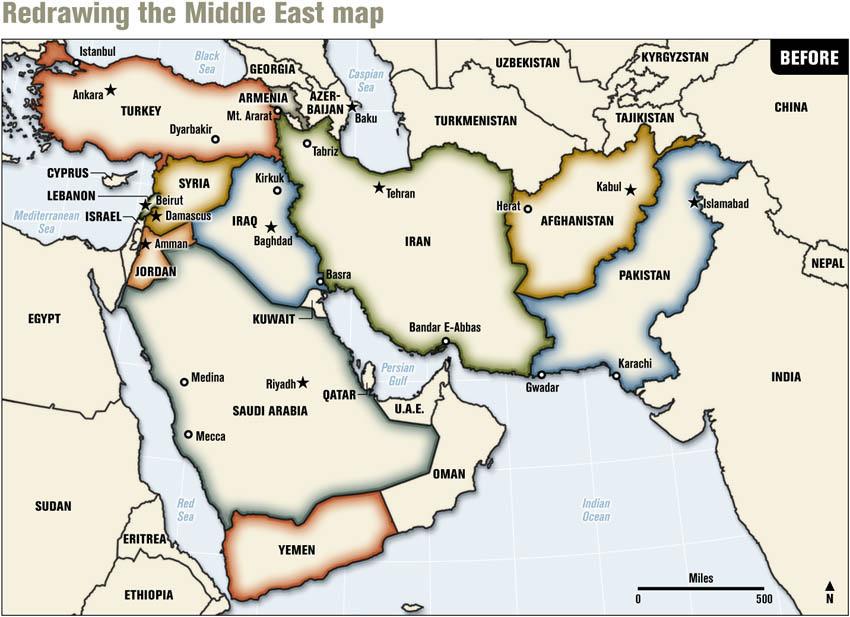 خريطة الشرق الأوسط ـ قبل