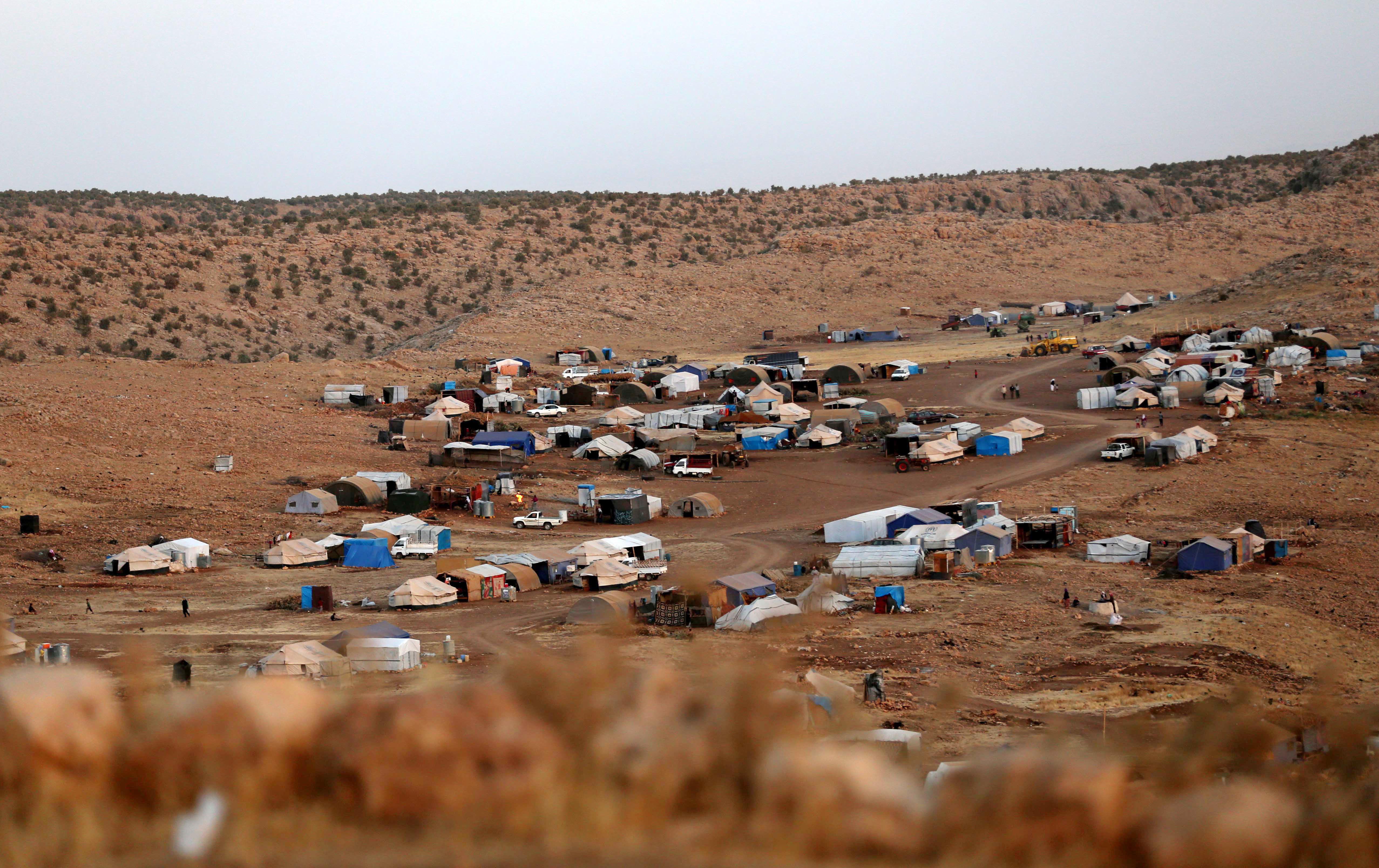 مخيم للنازحين الإيزيديين في سنجار-أرشيف