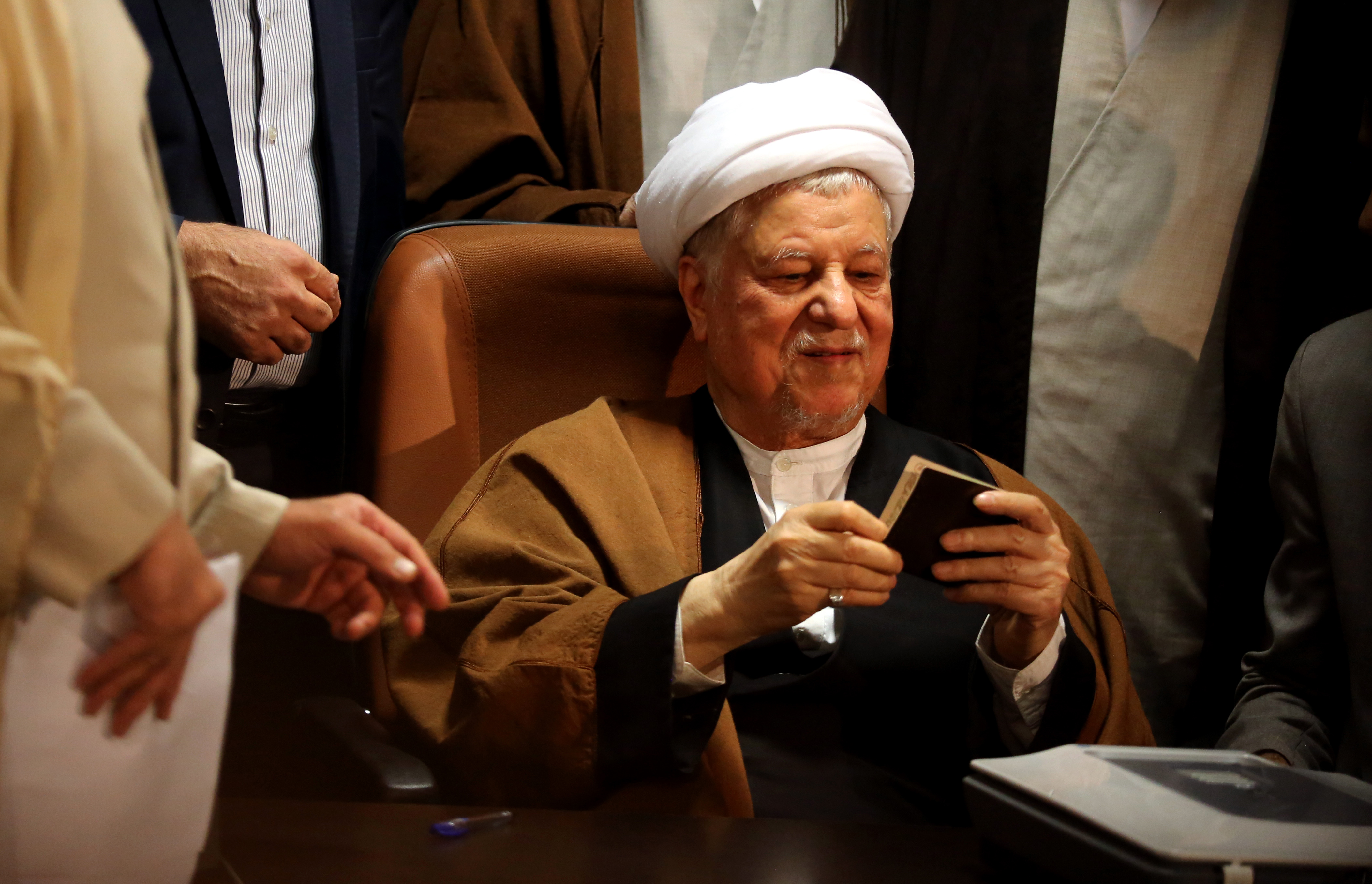 الرئيس الإيراني السابق علي أكبر هاشمي رفسنجاني