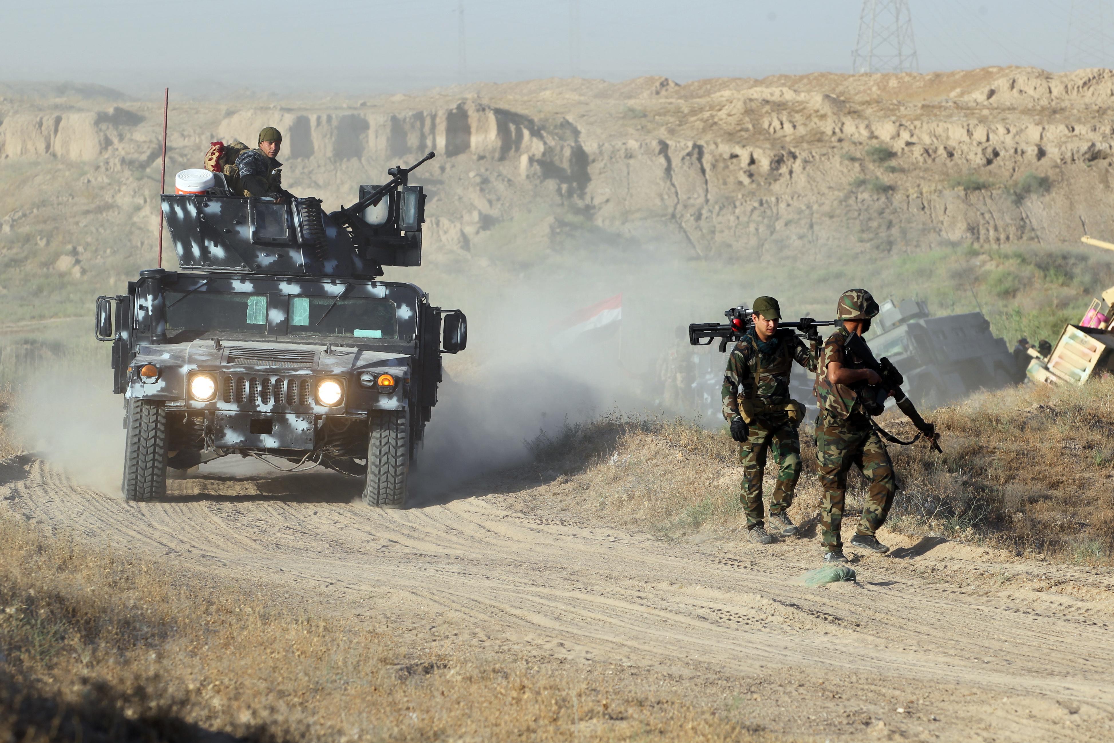 قوات عراقية قرب الفلوجة الاثنين