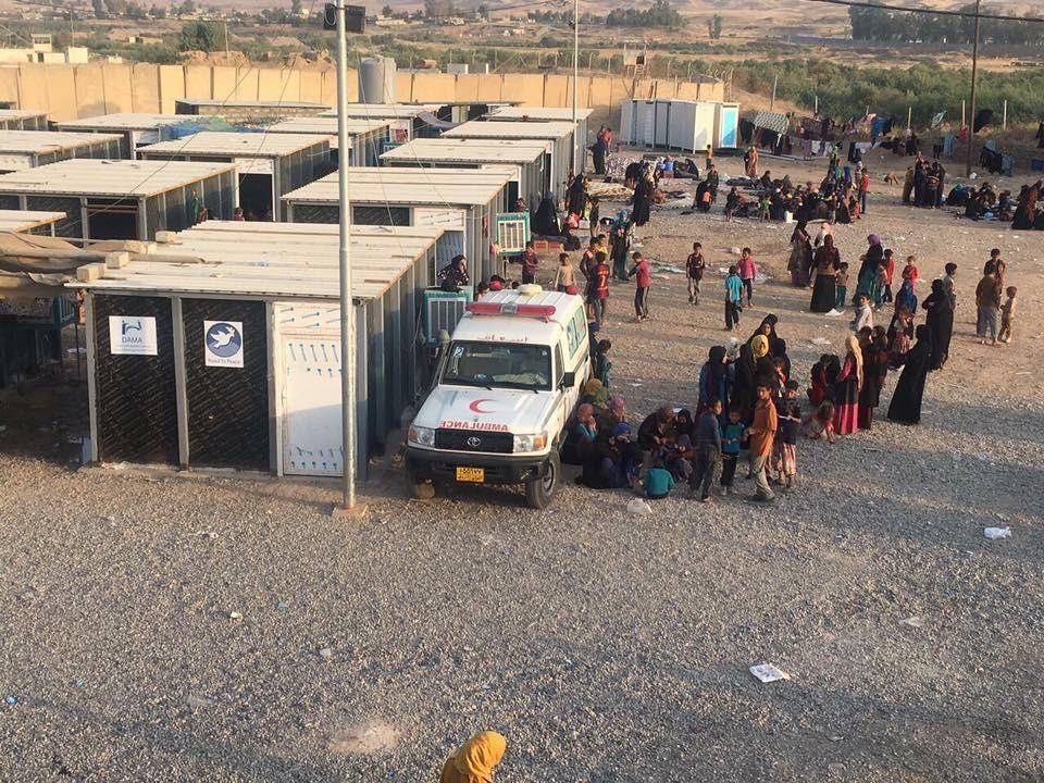 في مخيم دبس للنازحين من الحويجة