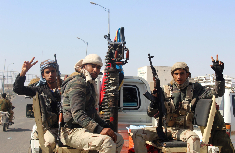 مسلحون تابعون للانفصاليين في عدن