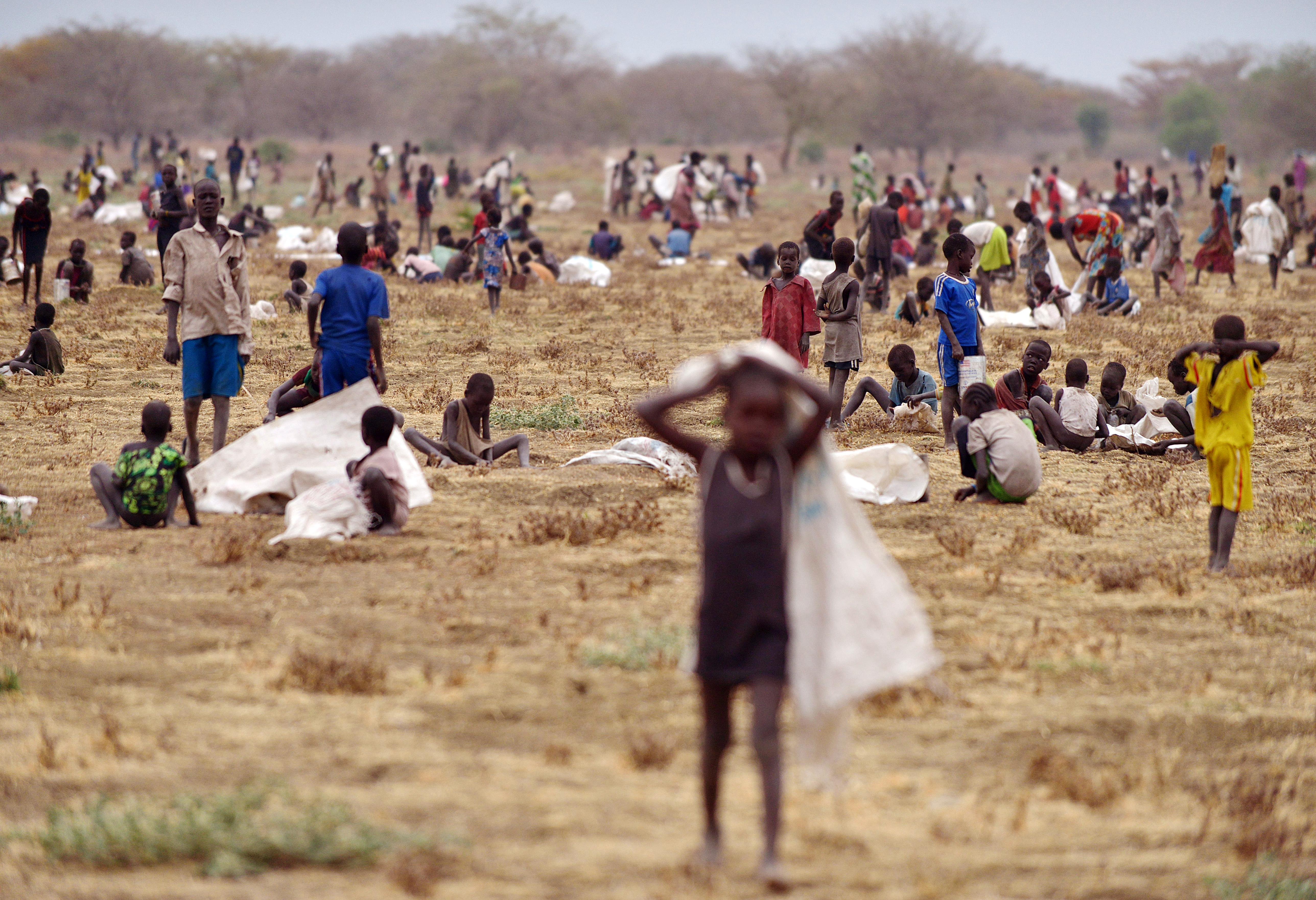 أطفال جنوب سودانيون فروا من الحرب