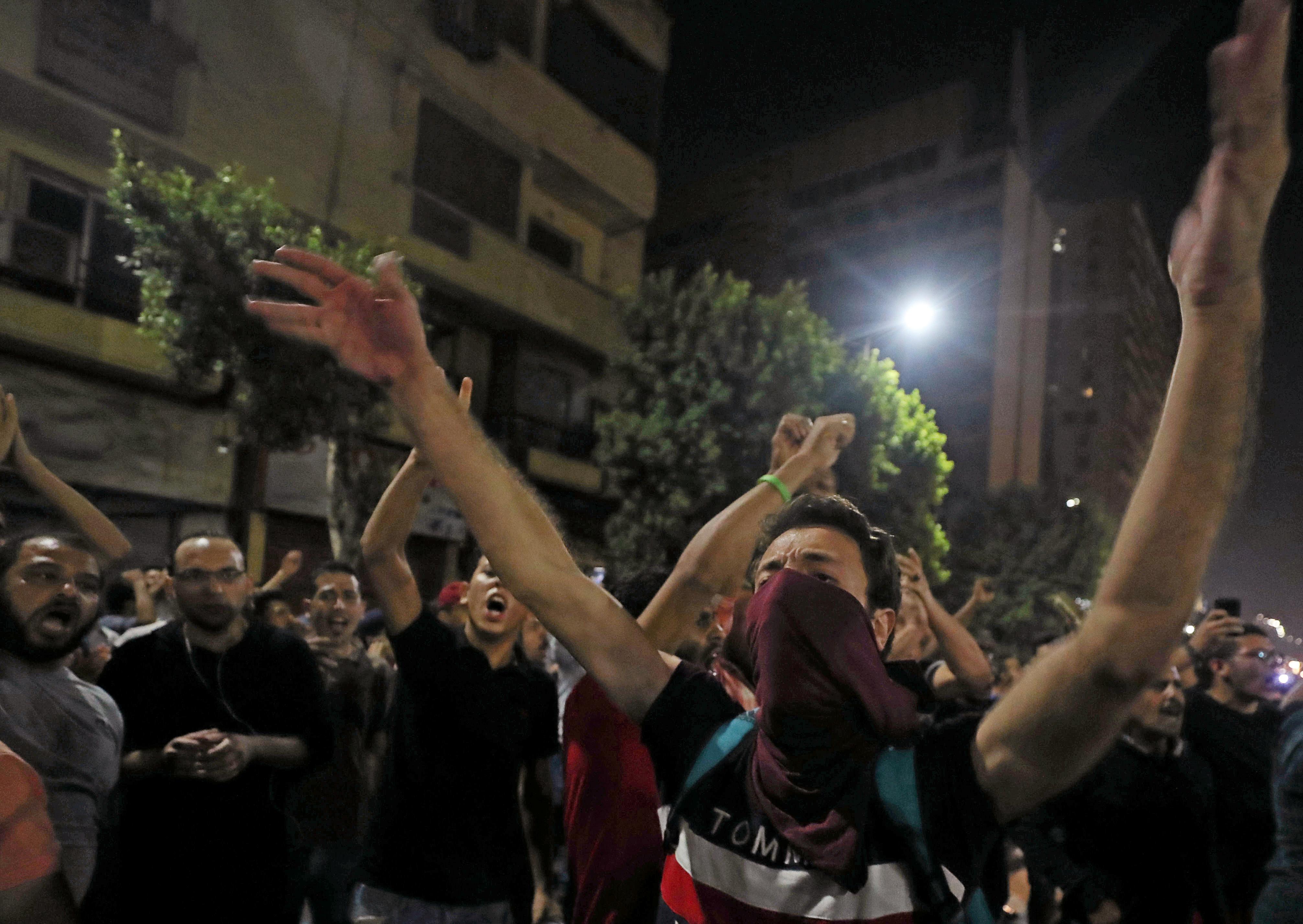 مجموعات صغيرة تتظاهر قرب ميدان التحرير - 21 سبتمبر 2019