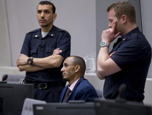 المتهم الحسن أغ محمود يمثل أمام المحكمة الجنائية الدولية في لاهاي/ وكالة الصحافة الفرنسية
