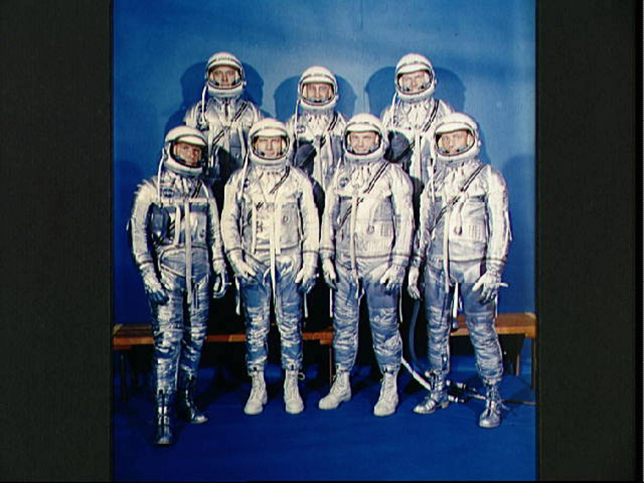 أعضاء برنامج ميركوري السبعة عام 1962