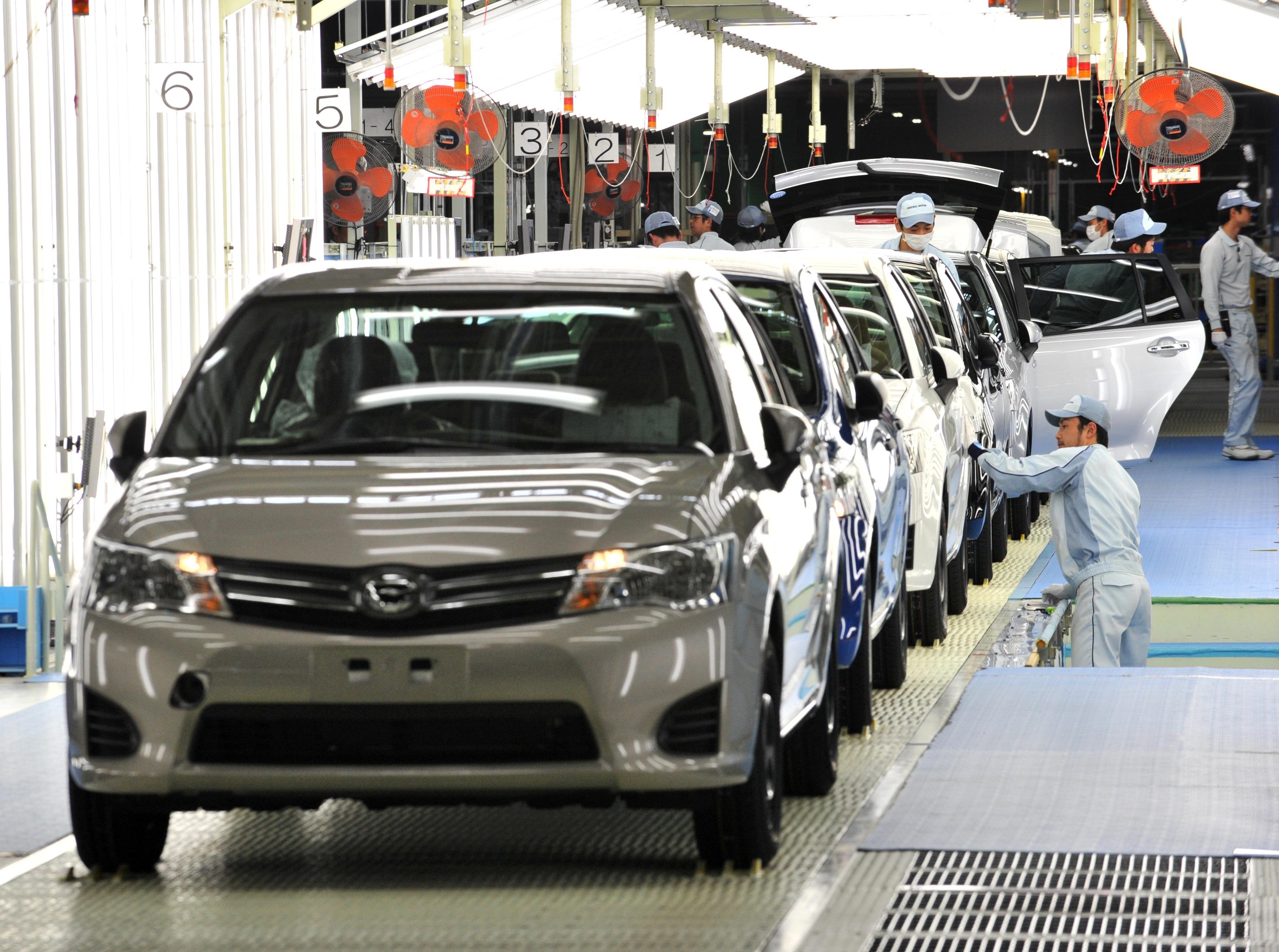 أحد مصانع إنتاج سيارات تويوتا