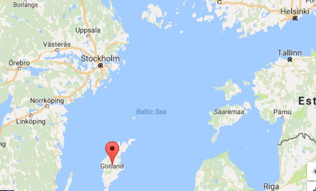 موقع جزيرة غوتلاند