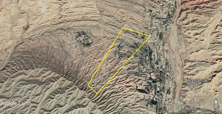 صورة لأقمار صناعية لمشروع 4 في موقع بارتشين (جنوب شرقي طهران) نشرها المجلس الوطني للمقاومة الإيرانية