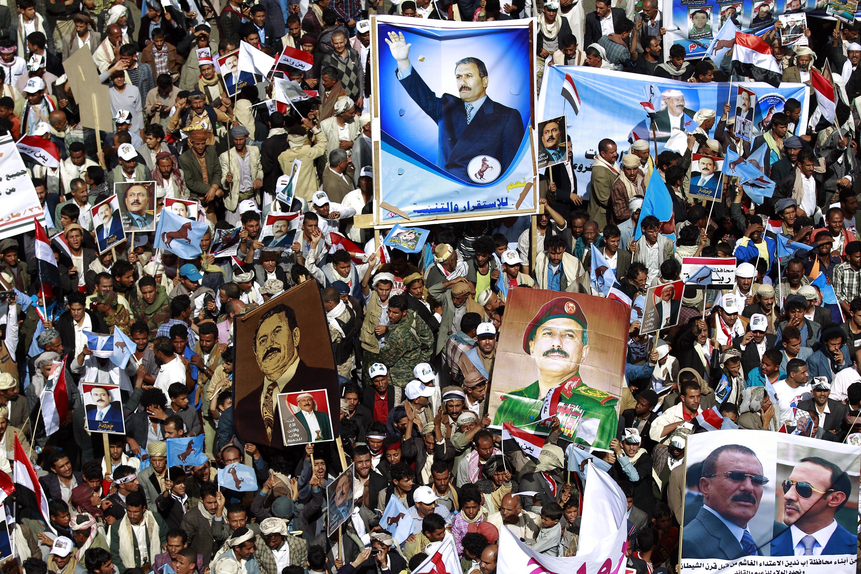 أنصار صالح يحتشدون في ميدان السبعين