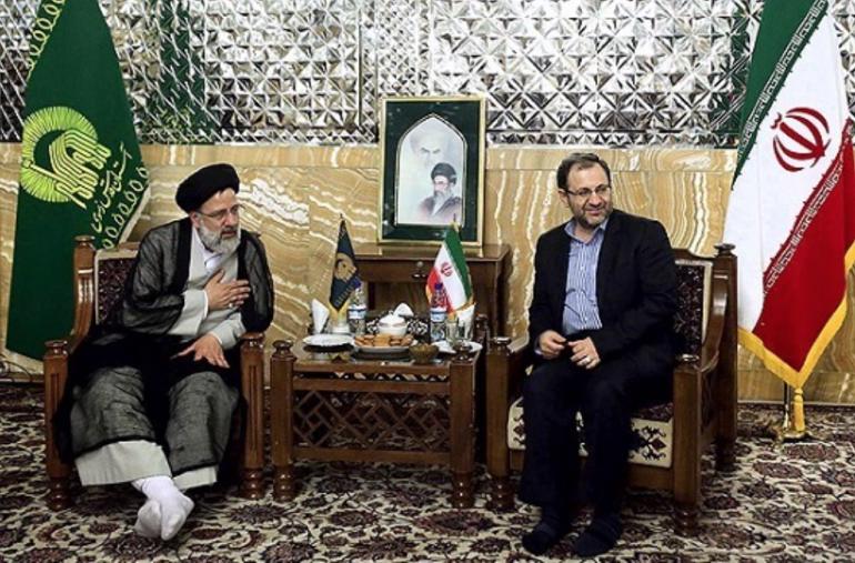رئيس وكالة فارس السابق نظام الدين موسوي مع رئيس السلطة القضائية إبراهيم رئيسي