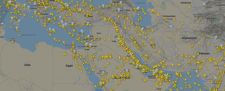 ألمجال الجوي الإيراني خاليا من الطائرات