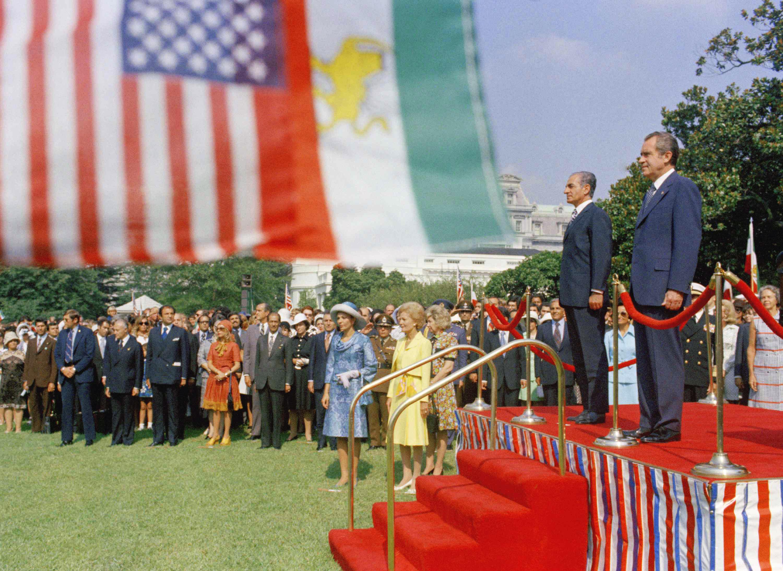 الرئيس الأميركي ريتشارد نيكسون في زيارة لطهران عام 1973