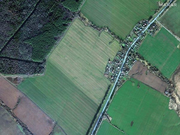صورة من الفضاء للمنطقة التي يتم بناء المستشفى عليها في نوفمبر 2019