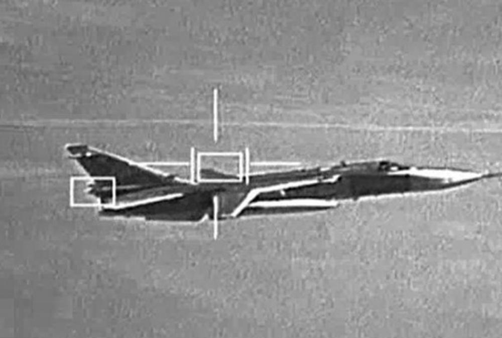 صورة لإحدى الطائرات الروسية في ليبيا