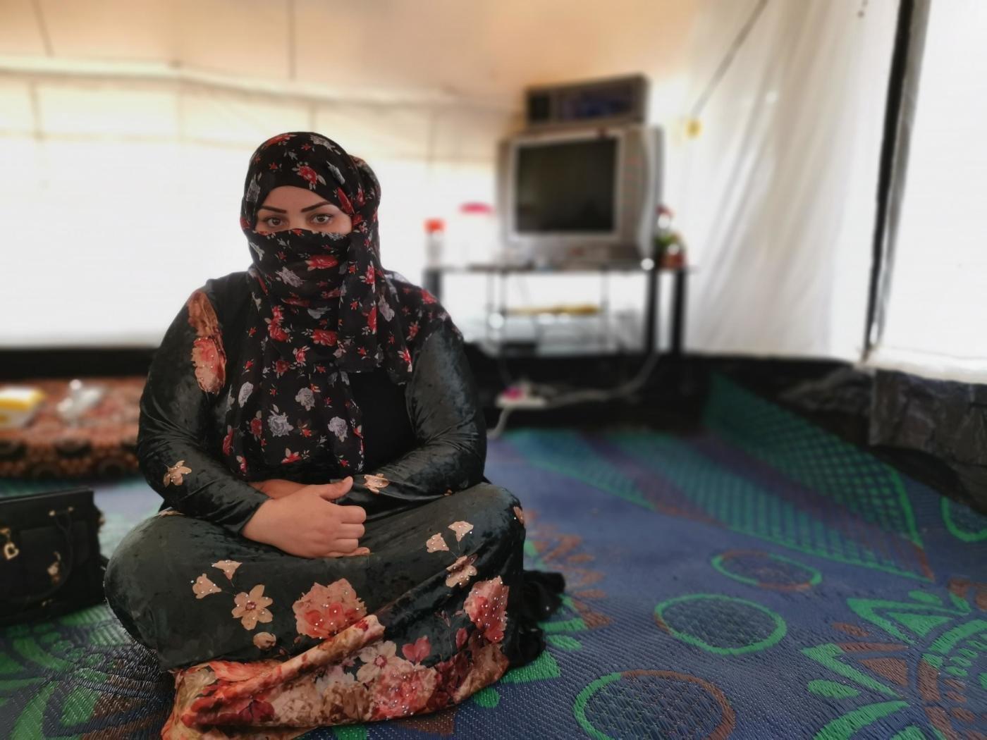 ريم تعيش في المخيم من 2017