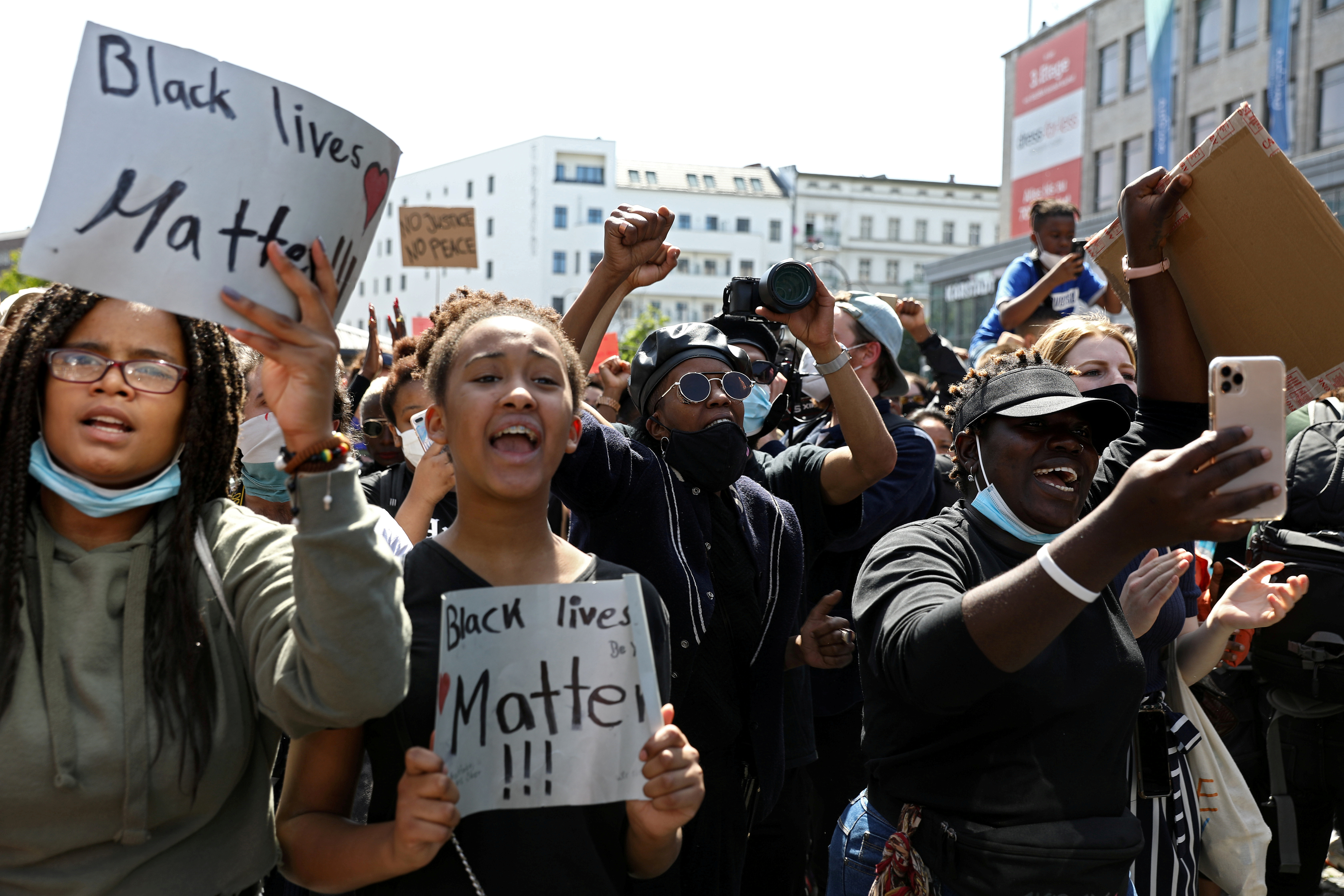 مظاهرات في برلين تنديداً بمقتل جوروج فلويد