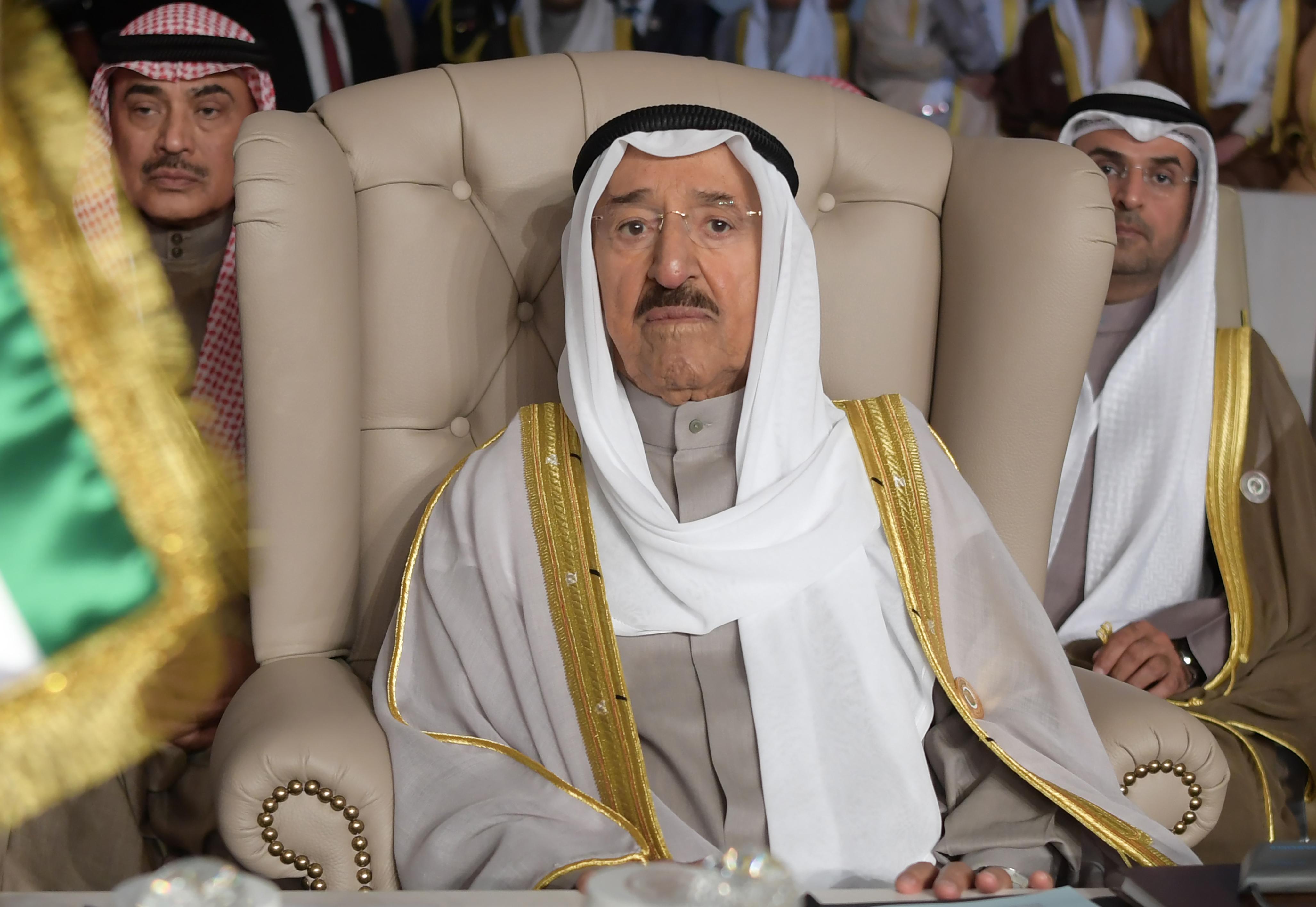 أمير الكويت صباح الأحمد الجابر الصباح يخضع للعلاج في الولايات المتحدة. أرشيفية