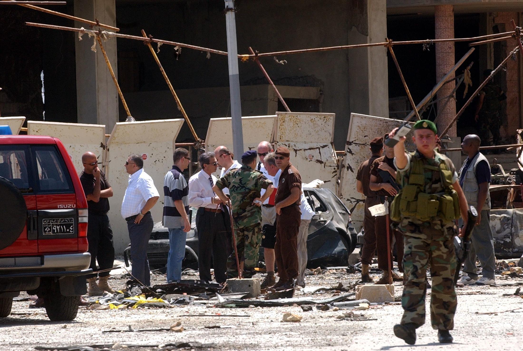 موقع اغتيال رفيق الحريري في 2005
