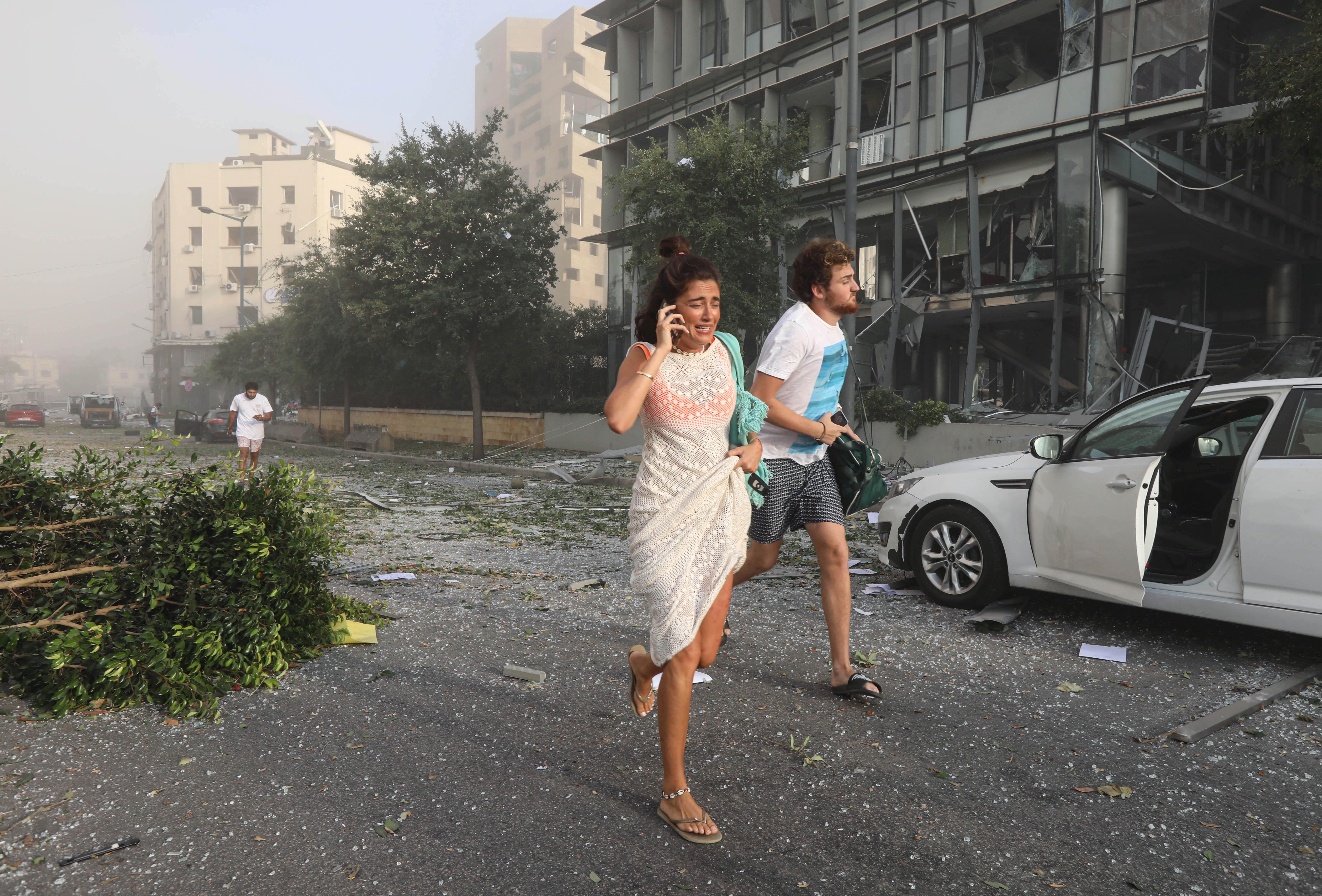 ذعر وخوف سببه انفجار بيروت بين الناس