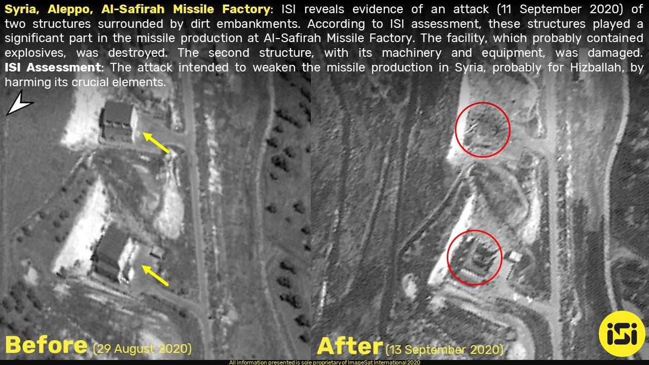 إصابة مبنيين في مصنع صواريخ السفيرة قرب حلب