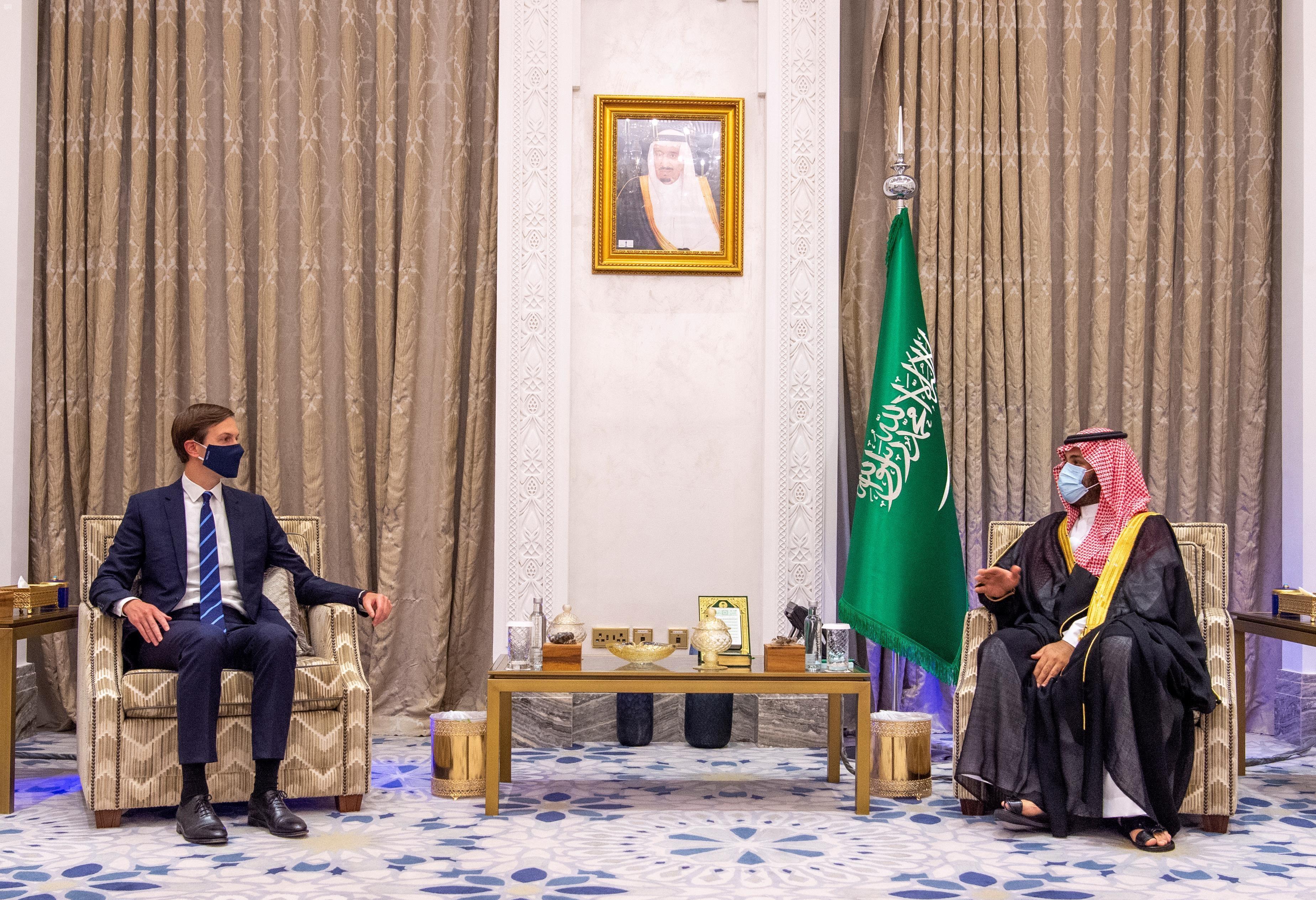 كوشنر ومسؤولون أميركيون على أمل بتطبيع العلاقات بين إسرائيل والسعودية . أرشيفية