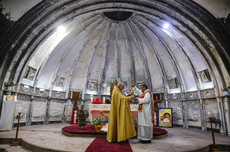 صلاة الأحد في كنيسة السريان في بغديدا
