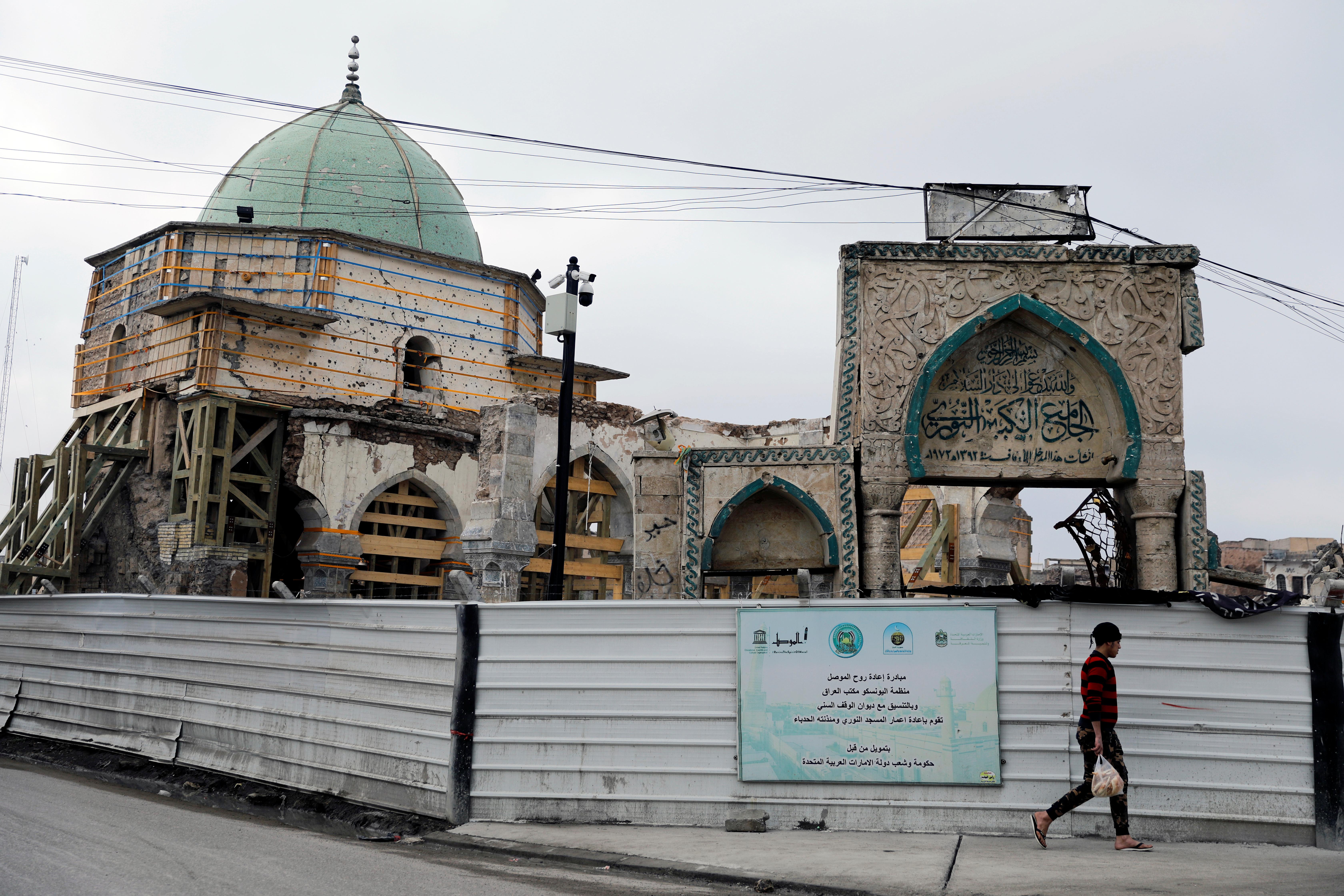 الجامع النوري شهد الظهور العلني والوحيد للزعيم السابق لداعش، أبو بكر البغدادي.