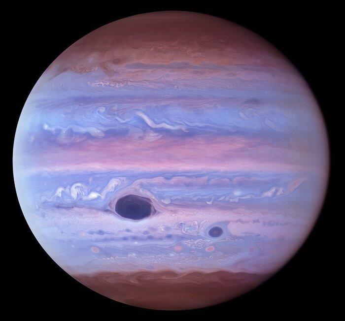 تساعد الصور فوق البنفسجية العلماء على دراسة كوكب المشتري
