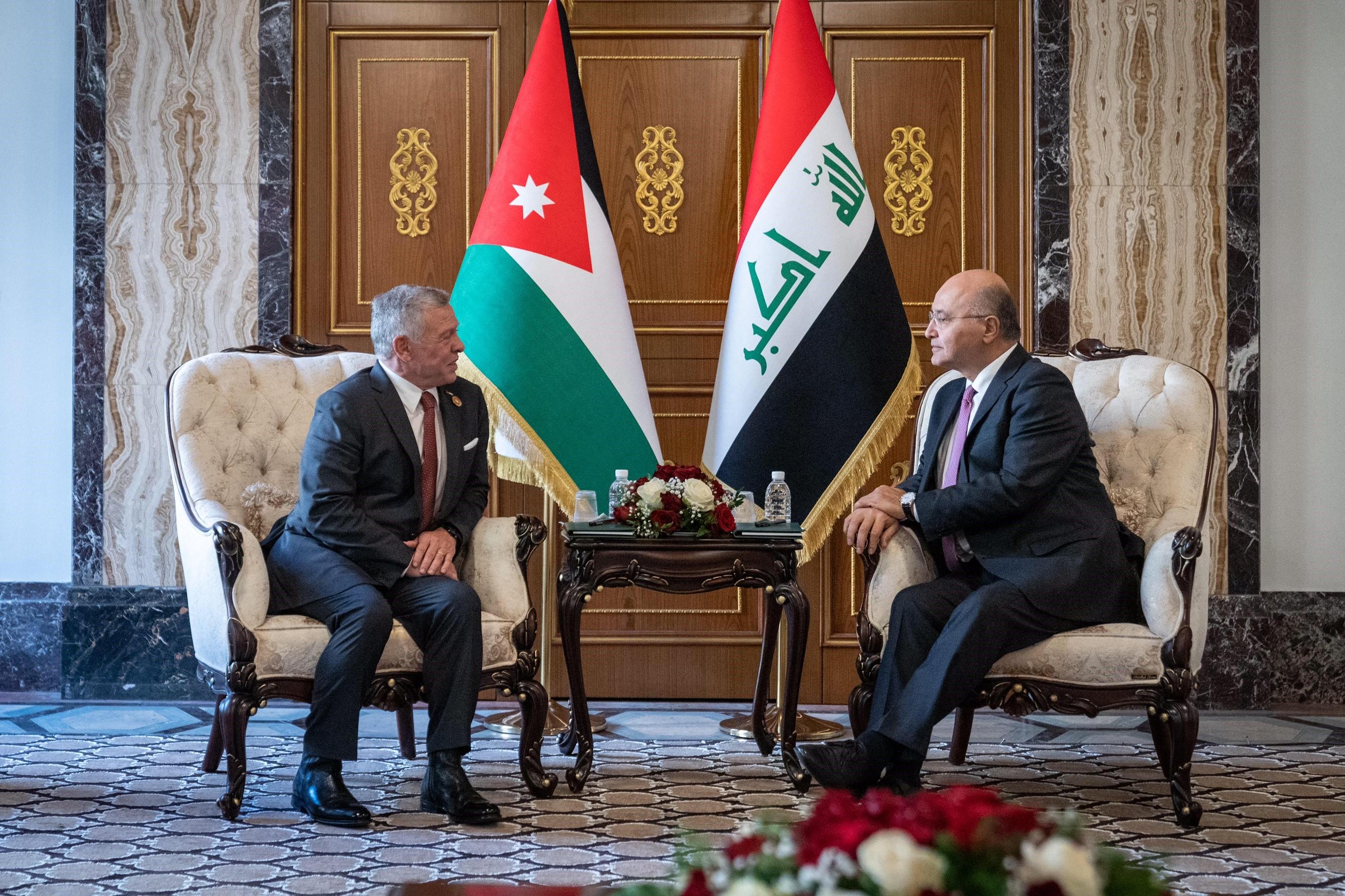 ملك الأردن مع الرئيس العراقي