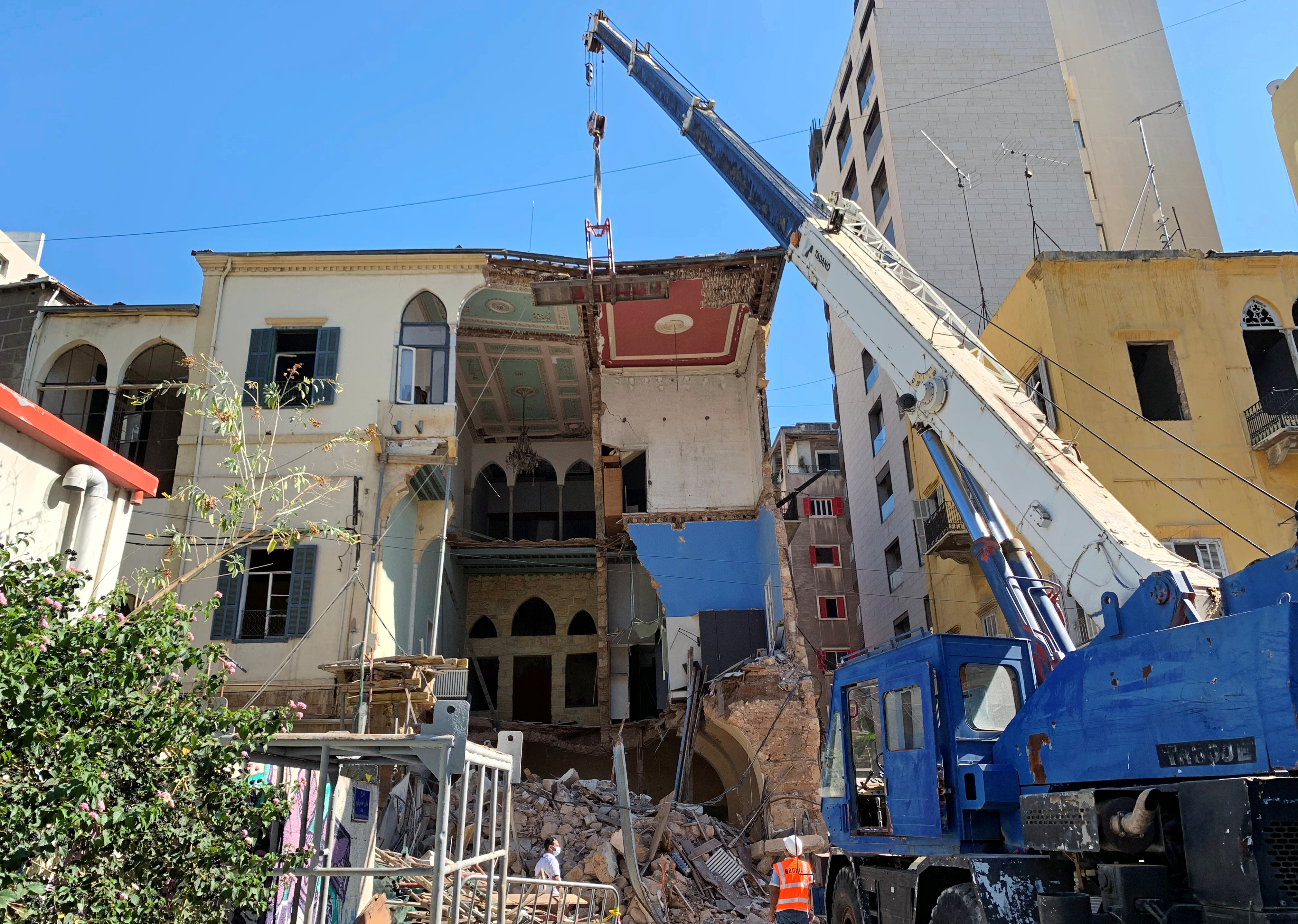 ما لم يتم ترميمه بعد هو المباني التراثية