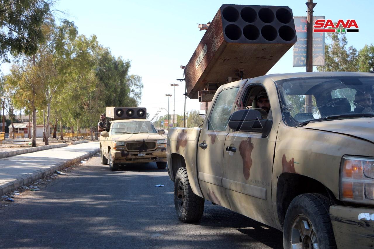 """راجمات صواريخ قصيرة المدى في درعا - المصدر: وكالة """"سانا"""""""