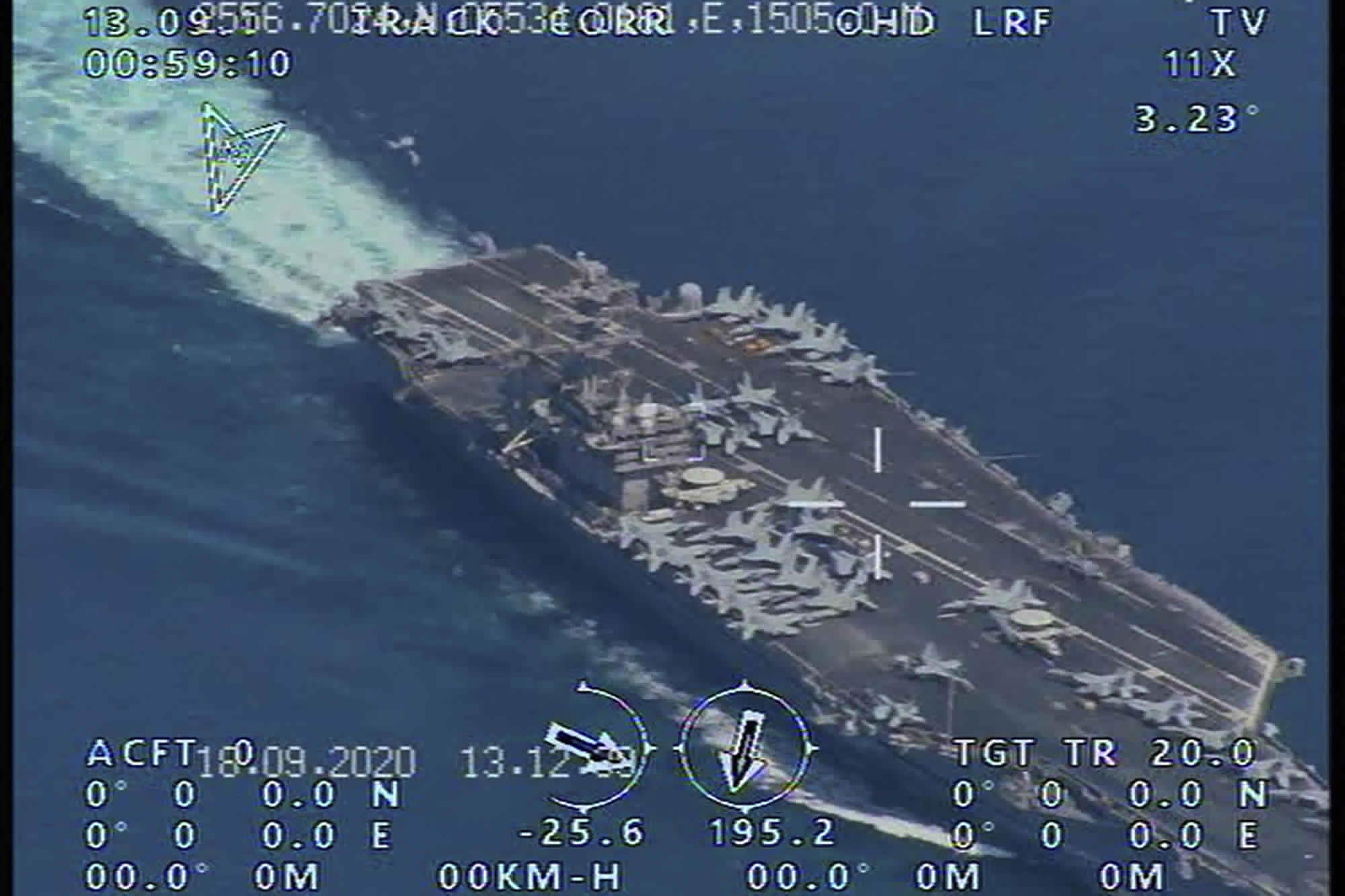 مسؤولون اميركيون أكدوا أن تواجد نيميتز قرب الخليج يأتي في إطار ردع أي هجمات قد تشنها إيران