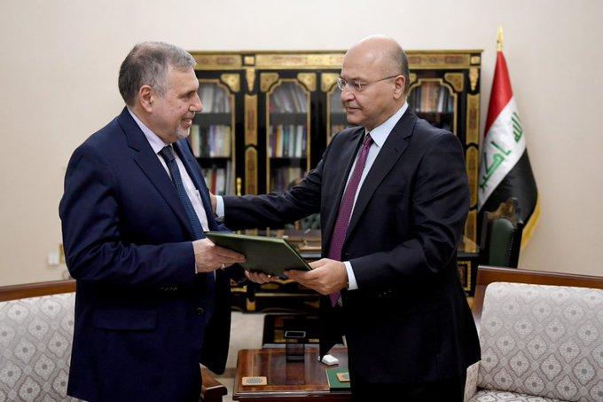 برهم صالح يكلف محمد توفيق علاوي بمهمة تشكيل الحكومة العراقية الجديدة