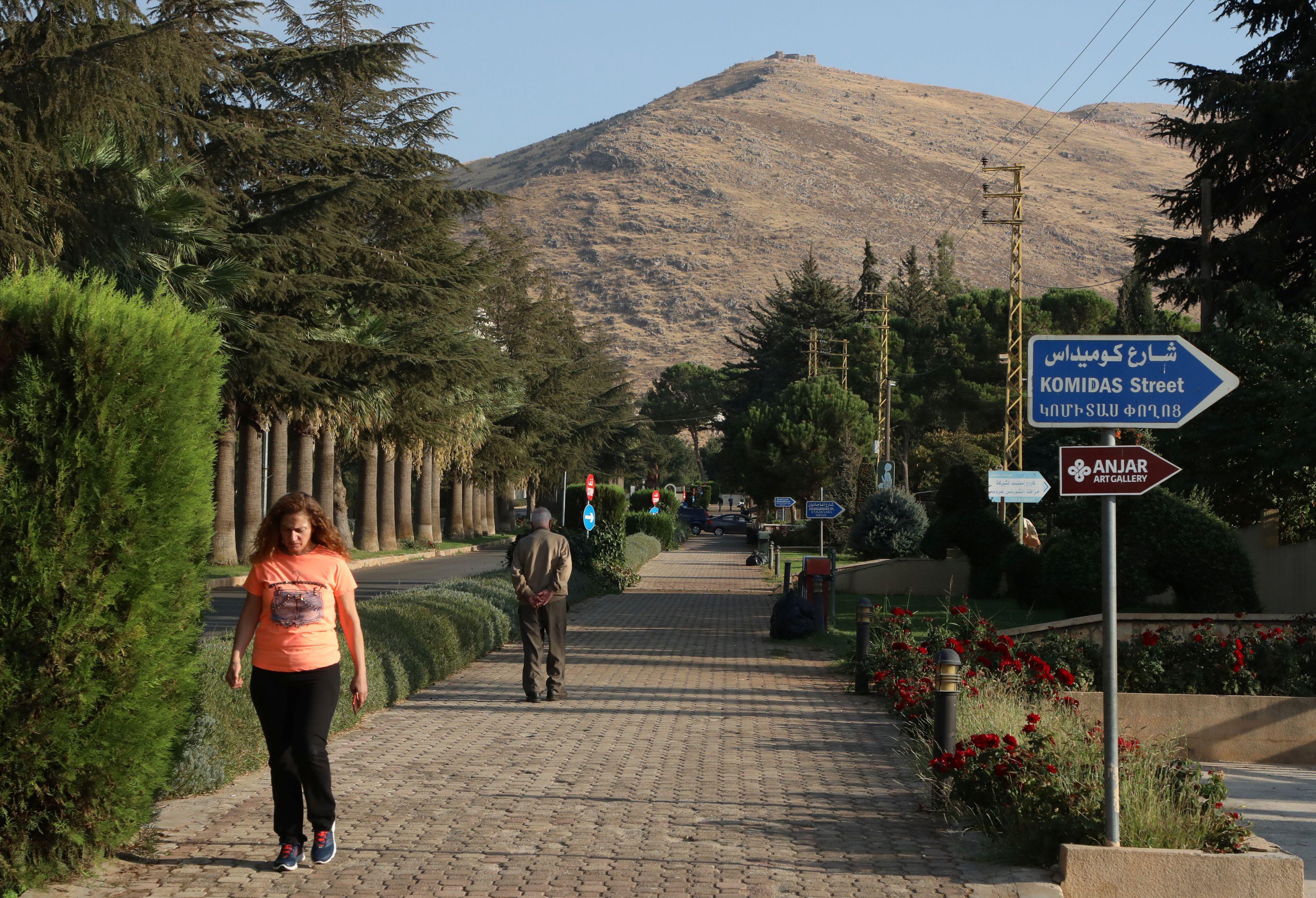جانب من بلدة عنجر اللبنانية التي يغلب على سكانها الأرمن