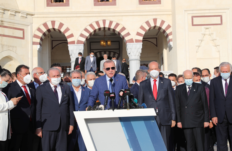 Turkish President Tayyip Erdogan visits Northern Cyprus