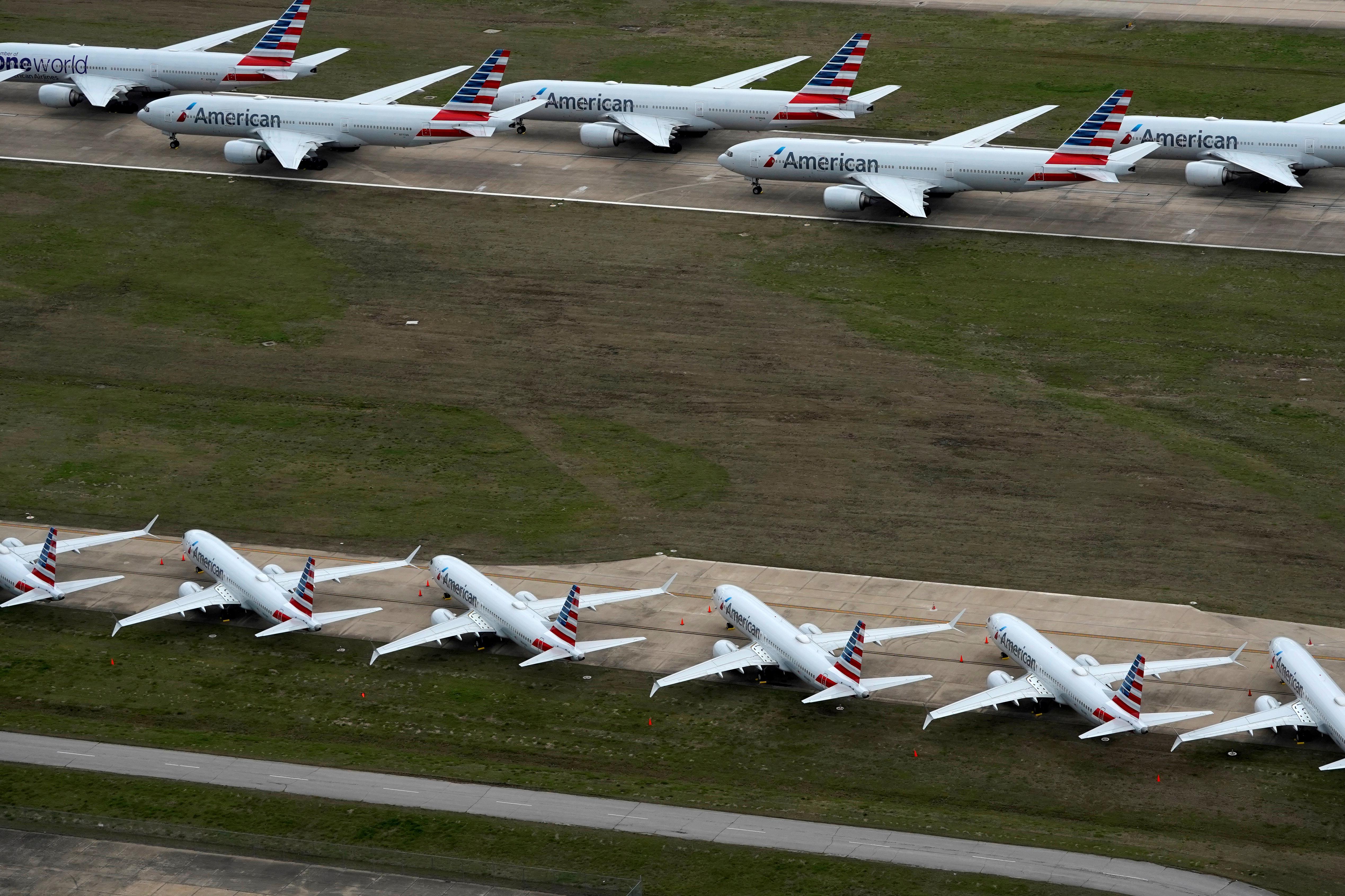 مطار طولسا بولاية أوكلاهوما حيث توقفت حركة الطيران بسبب كورونا - 23 مارس 2020